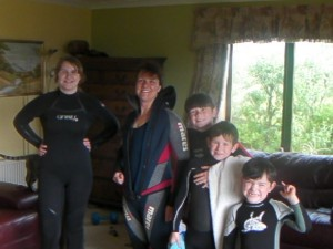 And wetsuits for all